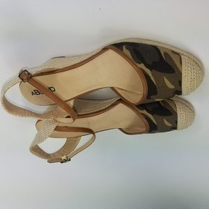Nordstrom Abound Army Wedge Espadrilles Size 13